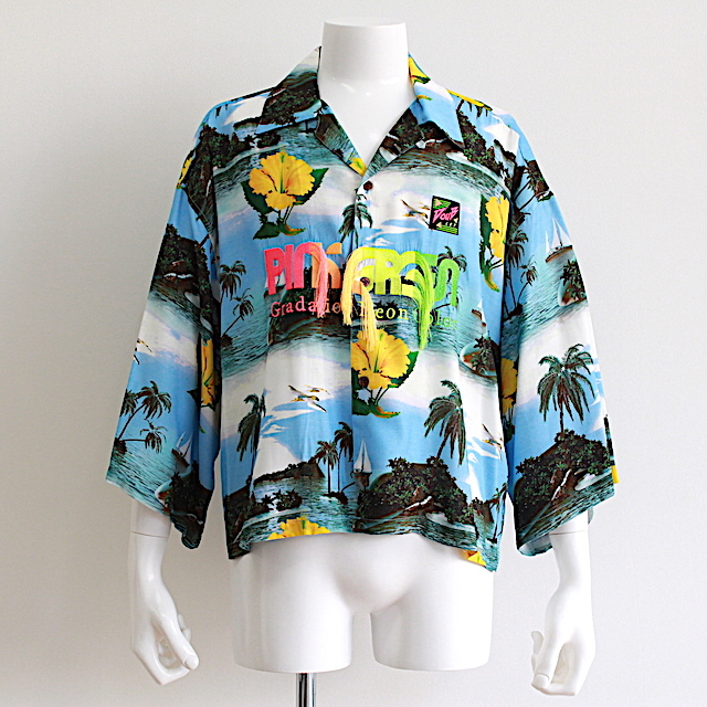 doublet GRADATION NEON EMBROIDERY ALOHA SHIRT 2カラー
