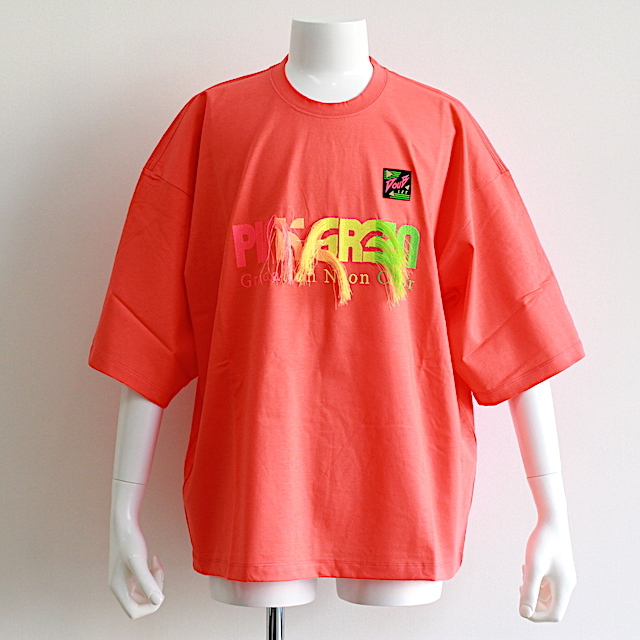 doublet 19SS27CS128 GRADATION NEON EMBROIDERY T-SHIRT 2カラー