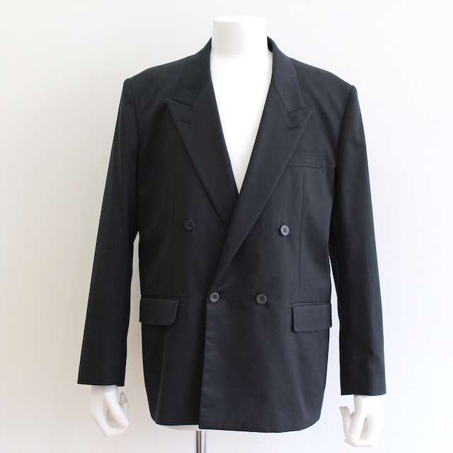 JOHNLAWRENCESULLIVAN COTTON DOUBLE BREASTED JACKET BLACK
