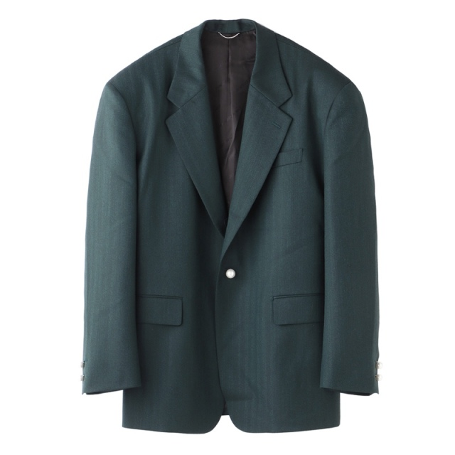 JOHNLAWRENCESULLIVAN BUCK SIDE TUCKED JACKET GREEN