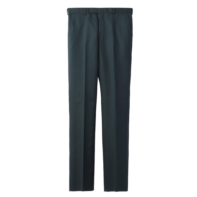 JOHNLAWRENCESULLIVAN STRAIGHT TROUSERS GREEN