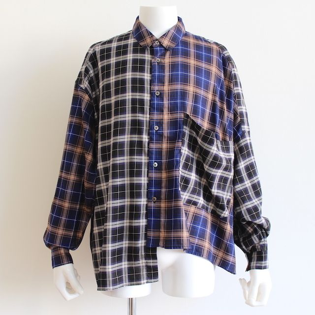 JIEDA ASYMMETRY L/S SHIRT PPL/NV