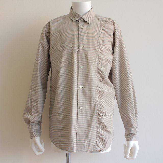 KUDOS KUDOS GATHERED SHIRT BEIGE
