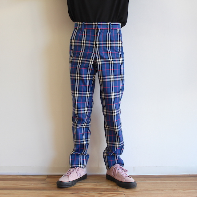 NEONSIGN TARTAN CHECK SLIM TAPERED SLACKS