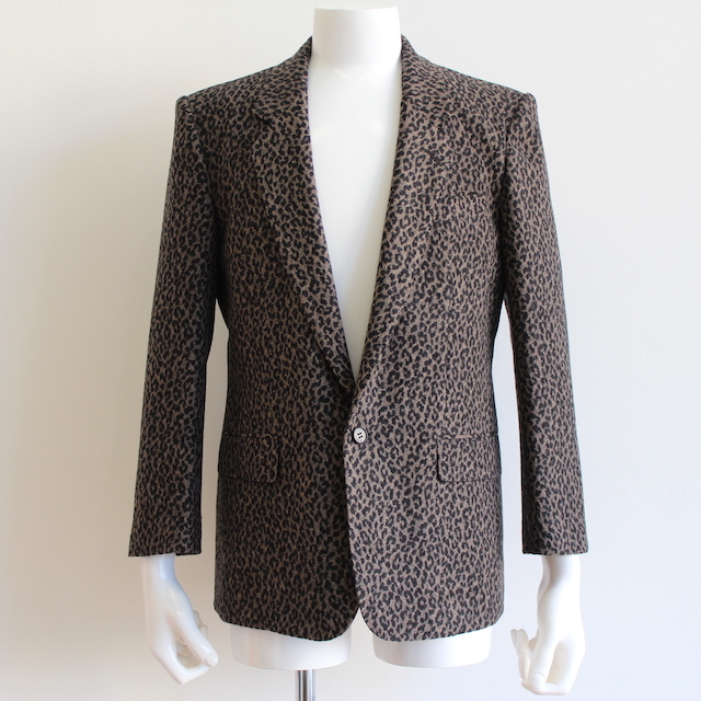 JOHNLAWRENCESULLIVAN LEOPARD FLANNEL SINGLE JACKET