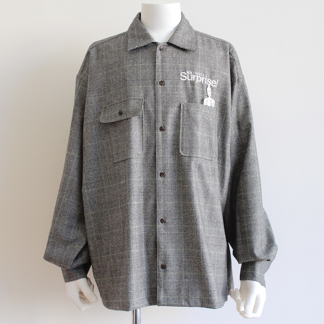 "doublet ""SURPRISE!"" EMBROIDERY SHIRT GREY"