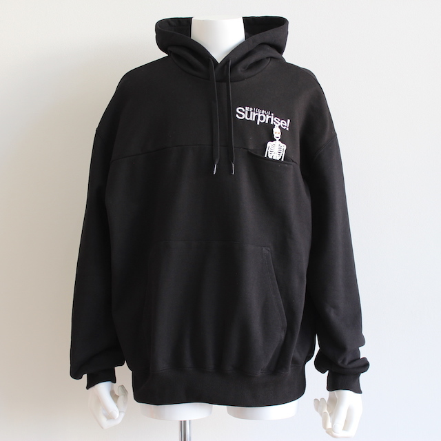 "doublet ""SURPRISE!"" EMBROIDERY HOODIE BLACK"