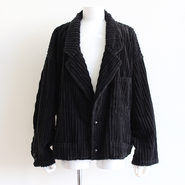 doublet CORDUROY CUT-OFF JACKET BLACK