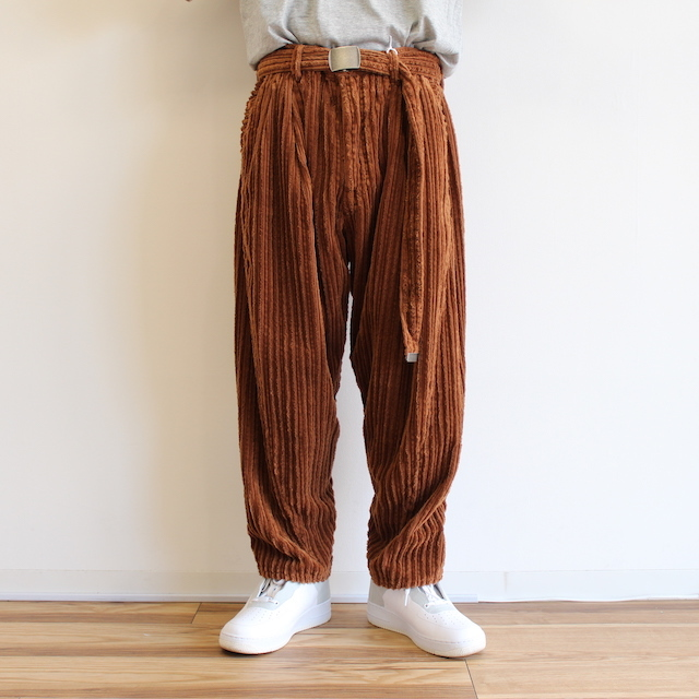 doublet CORDUROY WIDE TAPERED TROUSERS BROWN