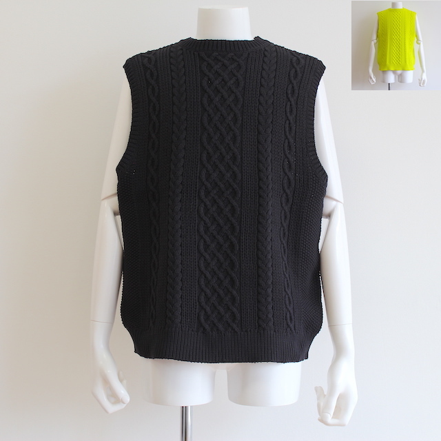 KAIKO TECH ARAN KNIT VEST