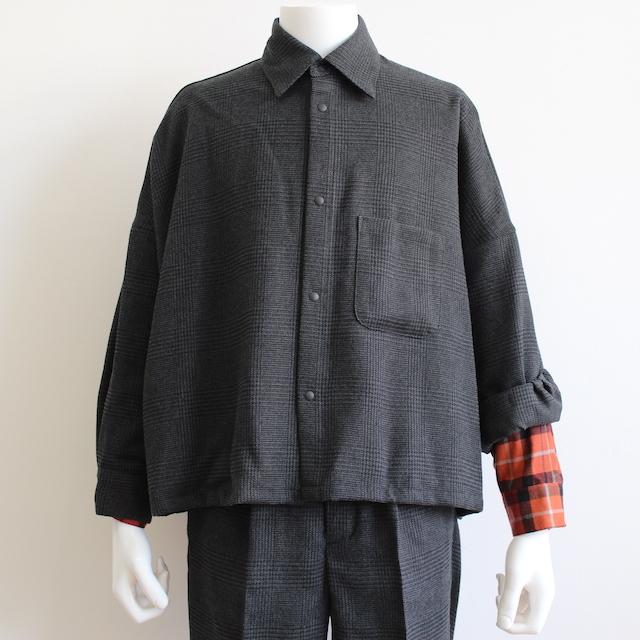 elephant TRIBAL fabrics ARM LAYERED BIG SHIRT BLACK