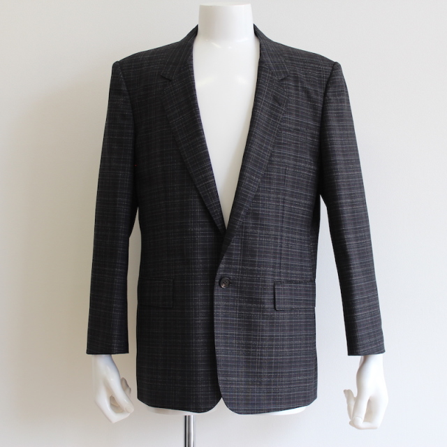 JOHNLAWRENCESULLIVAN CHECKED WOOL SINGLE JACKET