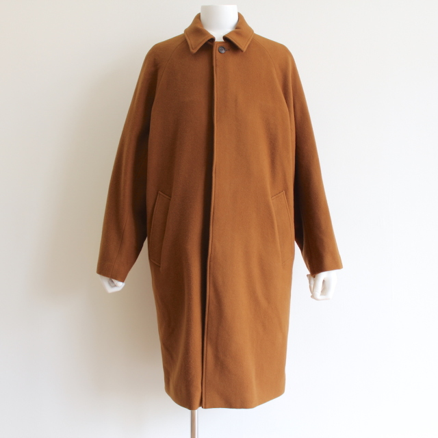 KAIKO LARGER SOUTIEN COLLAR COAT BROWN