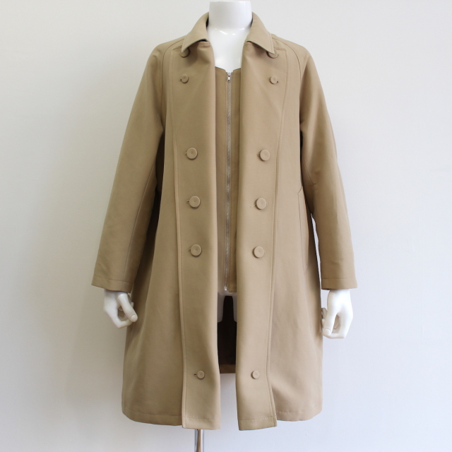 KUDOS TOO MANY BUTTON TRENCH COAT BEIGE