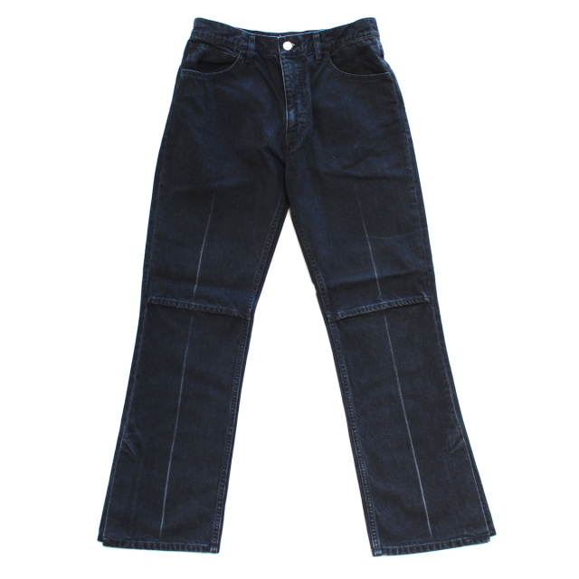JIEDA USED SLIT DENIM PANTS BLACK