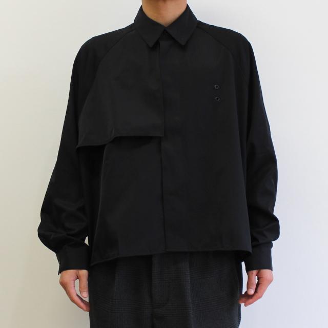 JIEDA TRENCH SHIRT BLACK