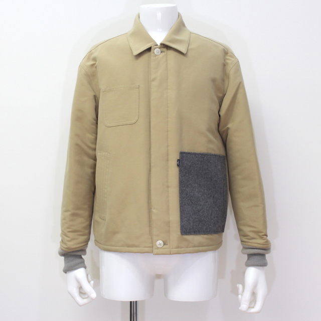 KUDOS PATCH POCKET BLOUSON BEIGE