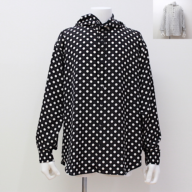 JOHNLAWRENCESULLIVAN DOT HOODED SHIRT