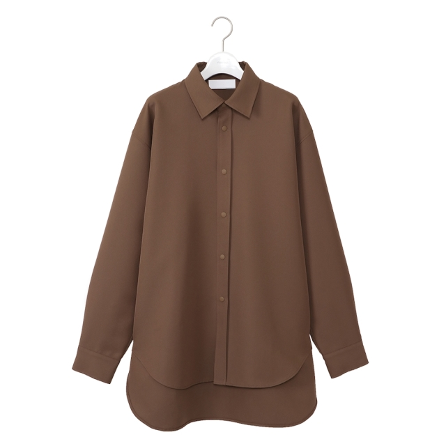 NEONSIGN LONG TAIL SHIRT CAMEL