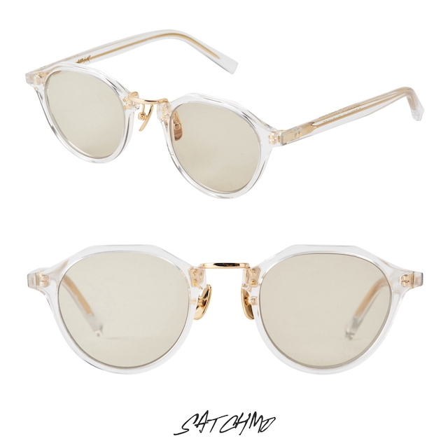 A.D.S.R SATCHMO 03c CLEAR/GOLD (Lt.BROWN)