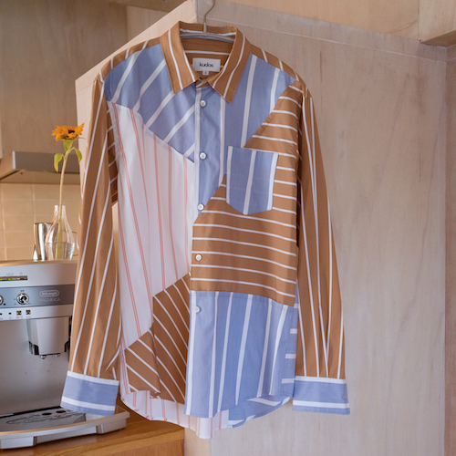 [予約商品 2月末入荷] KUDOS KB19XX02 BLUE PRINT STRIPE SHIRT
