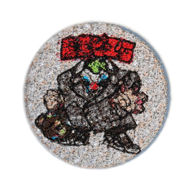 doublet EMBROIDERY BADGE SILVER