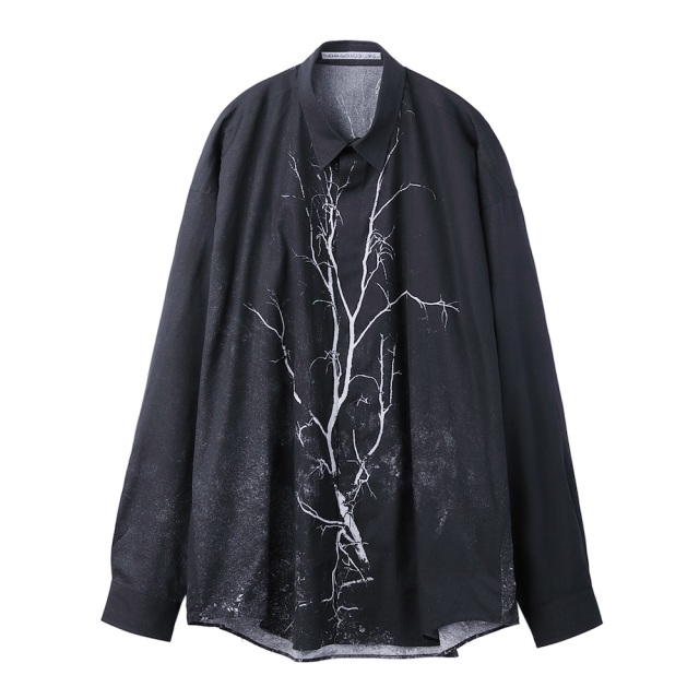 JOHNLAWRENCESULLIVAN × COLEY BROWN PHOTO PRINTED OVERSIZED SHIRT BLACK