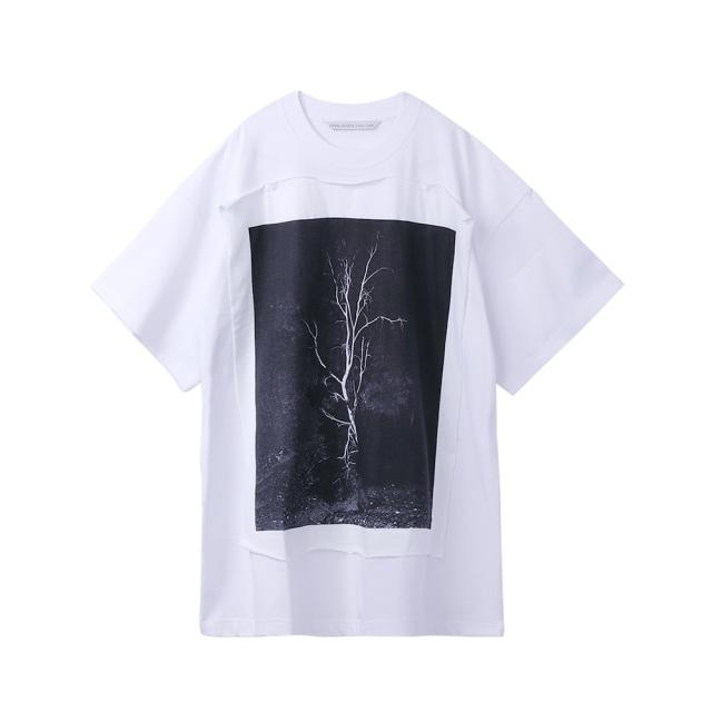 JOHNLAWRENCESULLIVAN × COLEY BROWN PHOTO PRINTED OVERSIZED T-SHIRT WHITE