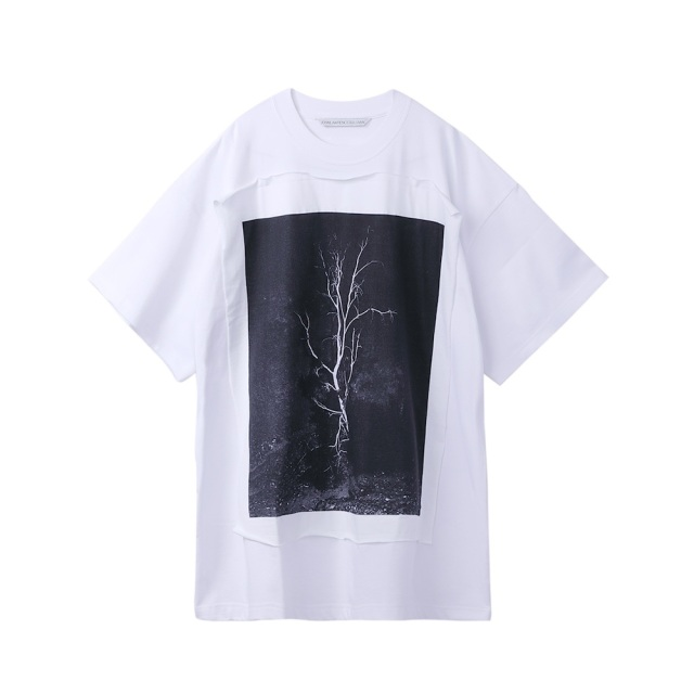JOHNLAWRENCESULLIVAN × COLEY BROWN PHOTO PRINTED OVERSIZED T-SHIRT WHITE