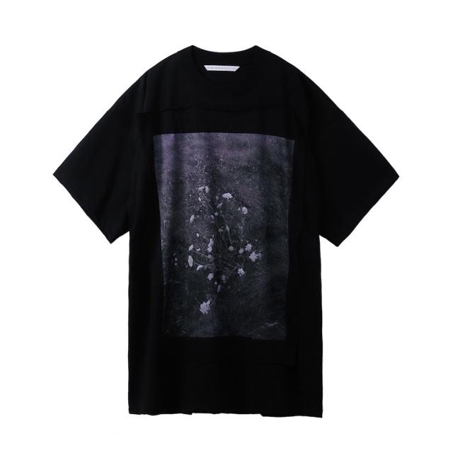 JOHNLAWRENCESULLIVAN × COLEY BROWN PHOTO PRINTED OVERSIZED T-SHIRT BLACK