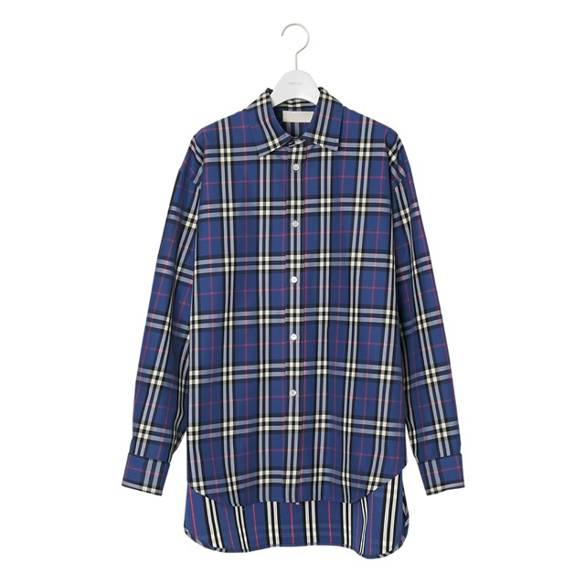 NEONSIGN TARTAN CHECK LONG TAIL SHIRT