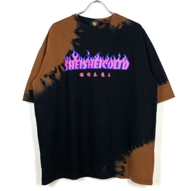 SHEI SHEI CO.LTD SHEI SHEI PROCESSING FIRE BIG TEE BLACK