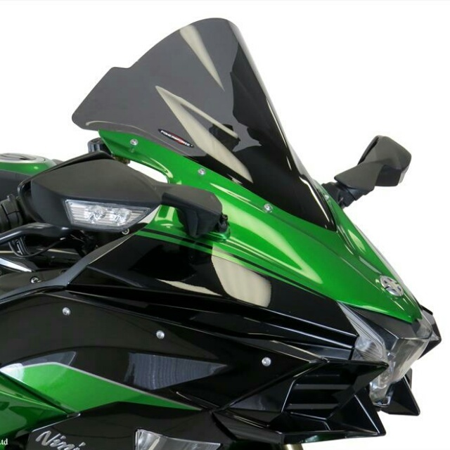 KAWASAKI >> Ninja H2 SX(18-)スポーツ・エアフロ-スクリーン Powerbronze