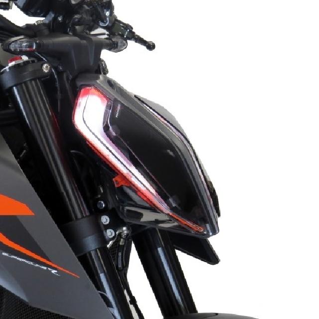 KTM >> 1290SuperDukeR(17-19) ヘッドライトレンズシールド Powerbronze