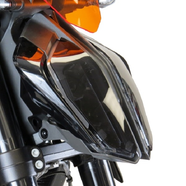KTM >> 890Duke/R(20-)・790Duke(18-) ヘッドライトレンズシールド【タイプA】 Powerbronze