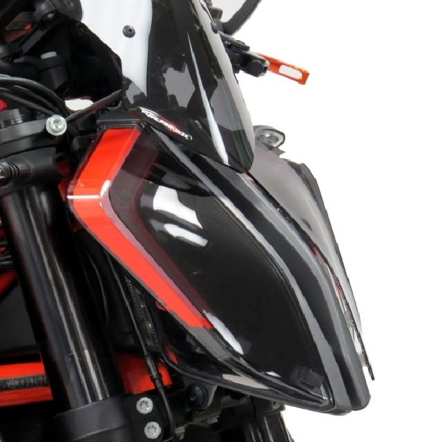 KTM >> 1290SuperDukeR(20-) ヘッドライトレンズシールド【タイプA】 Powerbronze