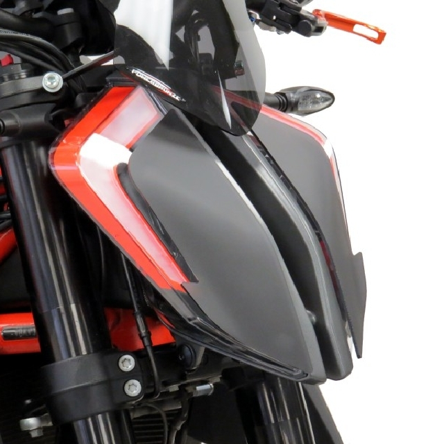 KTM >> 1290SuperDukeR(20-) ヘッドライトレンズシールド【タイプB】 Powerbronze