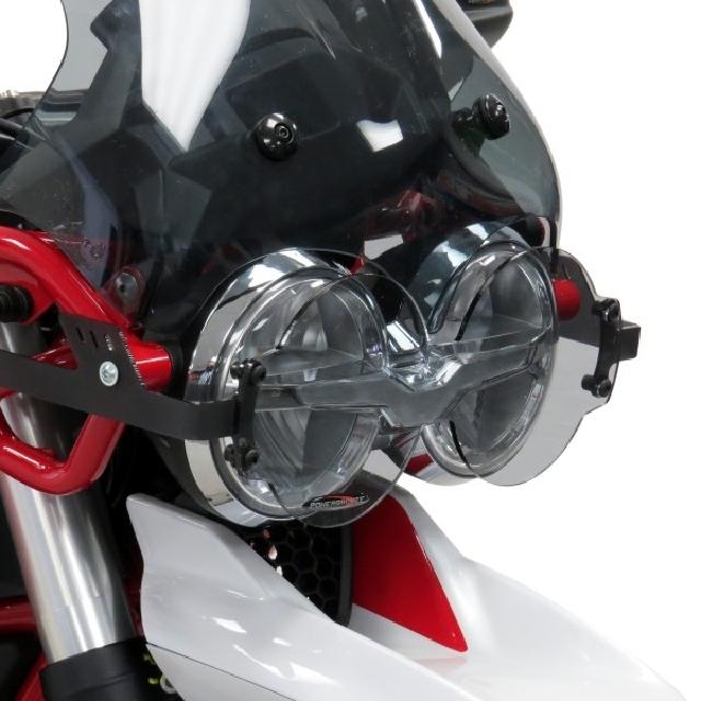 MOTO GUZZI >> V85TT(19-) ヘッドライトレンズシールド【Pro】  Powerbronze