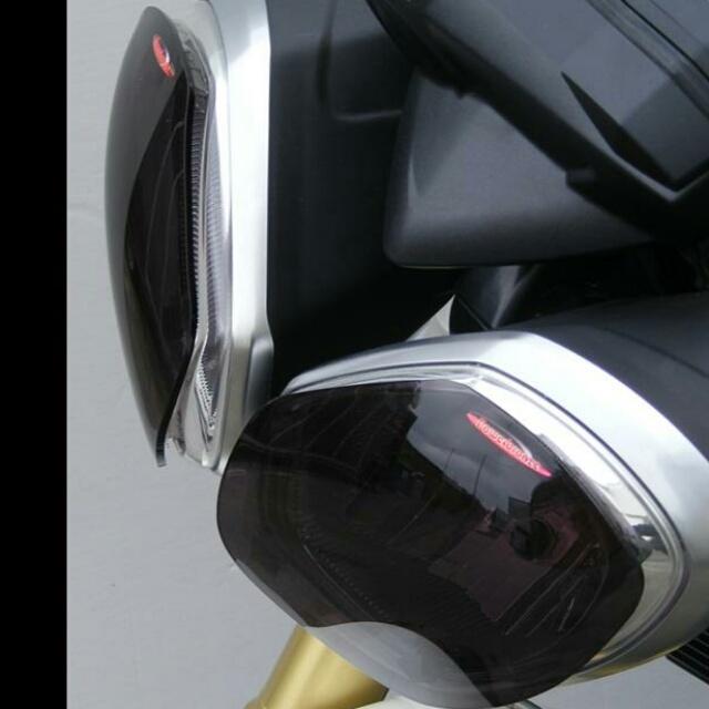Triumph >> SpeedTriple(11-15)・Street Triple(12-16) ヘッドライトレンズシールド Powerbronze