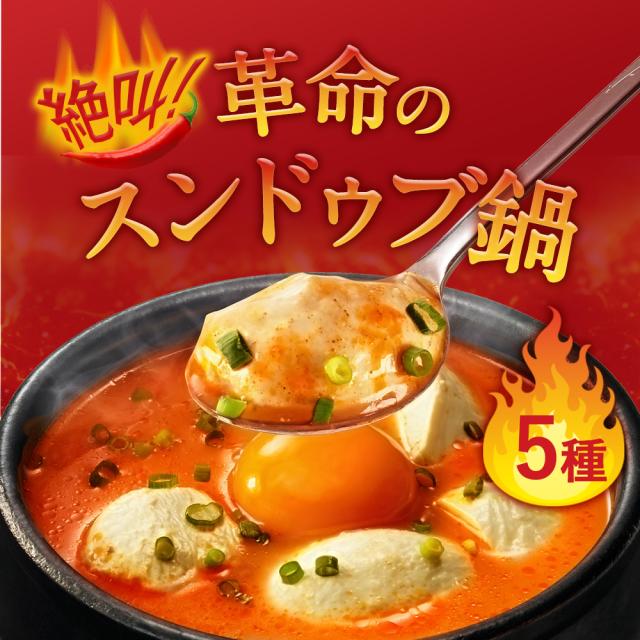 絶叫!革命のスンドゥブ鍋スープ セット(5種類×各1袋)