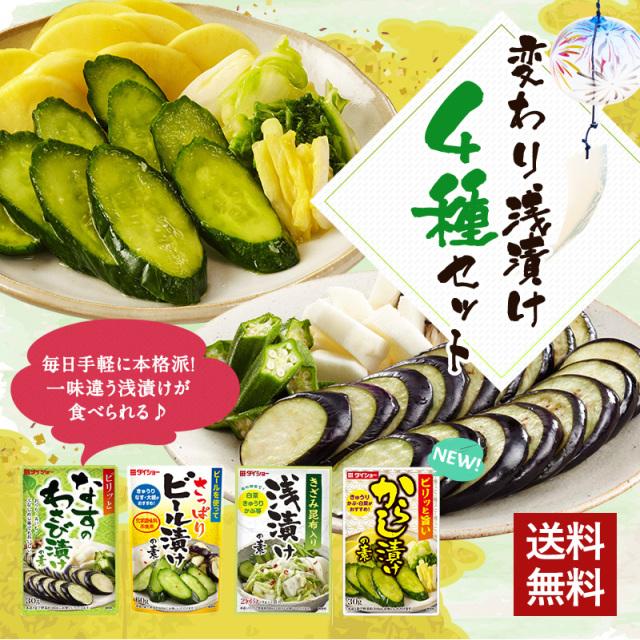 変わり浅漬け4種セット夏Ver.