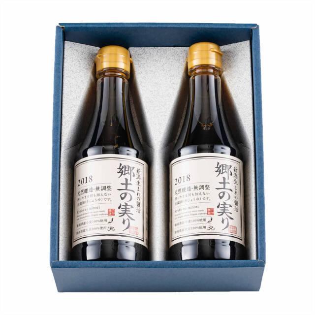 山崎醸造 新潟県産醤油 郷土の実り 360ml×2 【送料無料】 | こめや丸七