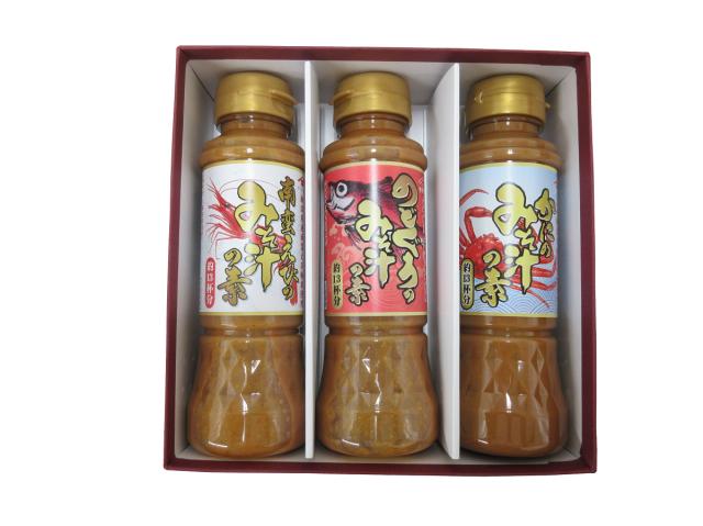 山崎醸造 バラエティギフトVF-185 (南蛮えびのみそ汁の素、のどぐろのみそ汁の素、かにのみそ汁の素)【送料込】