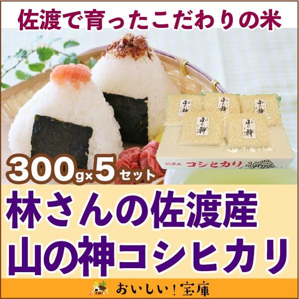 <令和元年産>林さんの佐渡産 山の神300g(2合)×5セット
