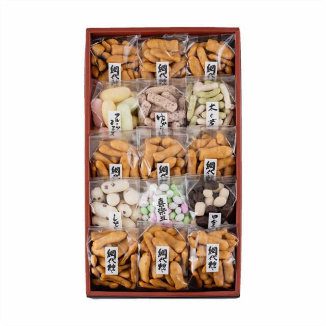 新野屋 米菓小袋15袋【送料無料】   こめや丸七
