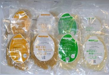 グルテンフリーパスタセット【A】 ・玄米パスタ(太麺×2、細麺×2) ・米粉パスタ(太麺×2、細麺×2)【送料込】