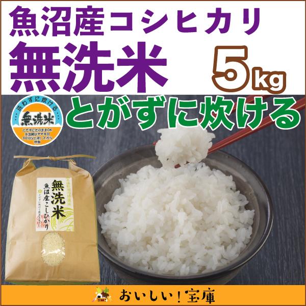 <令和元年産>魚沼産コシヒカリ(無洗米) 5kg