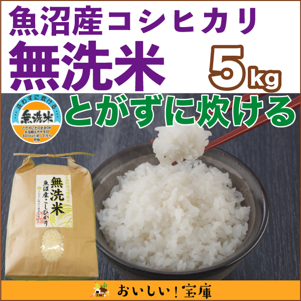 新米<平成30年産>魚沼産コシヒカリ(無洗米) 5kg
