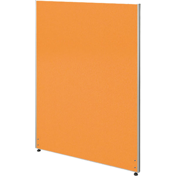 ローパーティション/布張りタイプ/PN0712-OR/高さ1200×幅700mm/オレンジ/Zシリーズ/269433