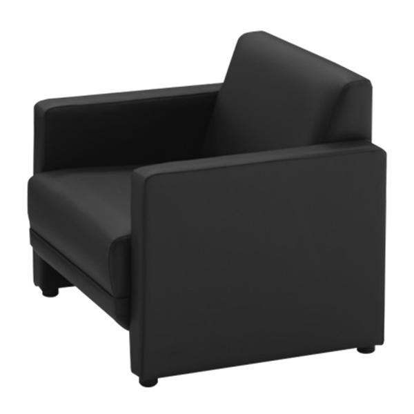 応接家具/アームチェアー/幅650×奥行730×高さ690mm/ブラック/ジョイシリーズ/16675